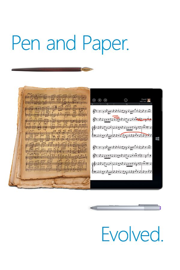 Write naturally, think musically. Combining the accuracy of Surface 3's digital pen and StaffPad's handwriting recognition, students can easily and naturally learn how to read and write music.  You can put a virtual orchestra at their fingertips, allowing them to compose music, playback instantly, edit, erase and try again.