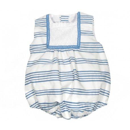 Precioso pololo de rayas azul y blanco de la marca Marta y Paula en la sección Outlet para Bebé. La ropa para bebé de marca que buscas  www.pepaonline.com