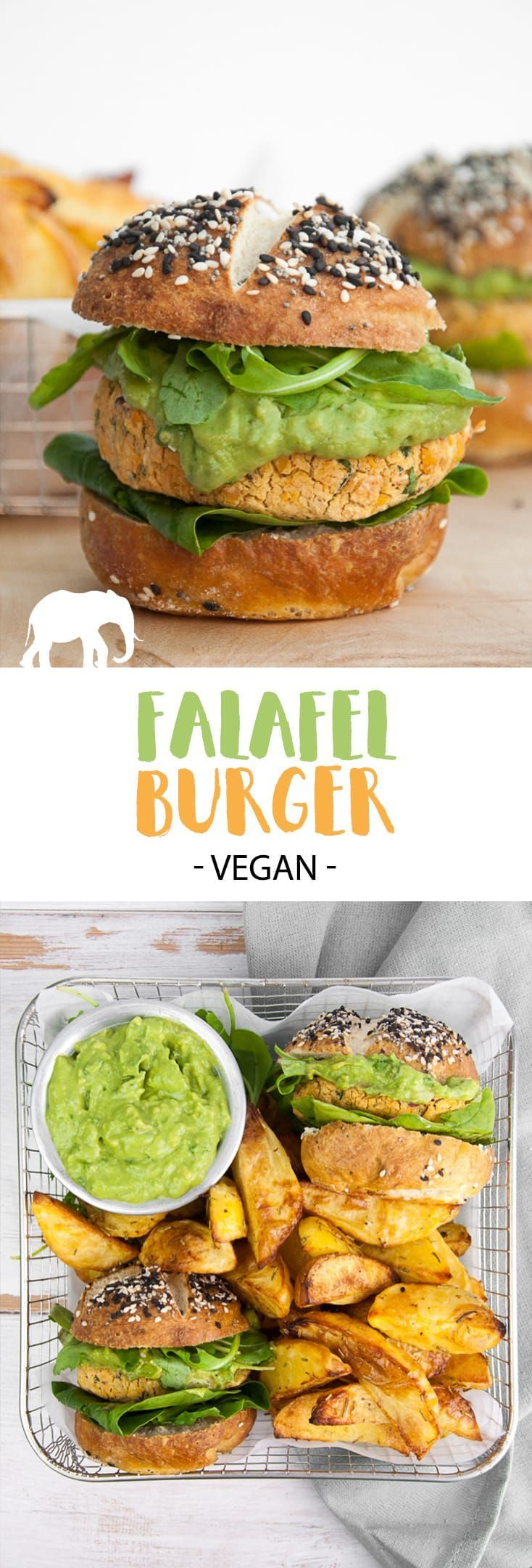 Vegan Falafel Burger #vegan #falafel #burger #chickpeas | ElephantasticVegan.com via @elephantasticv