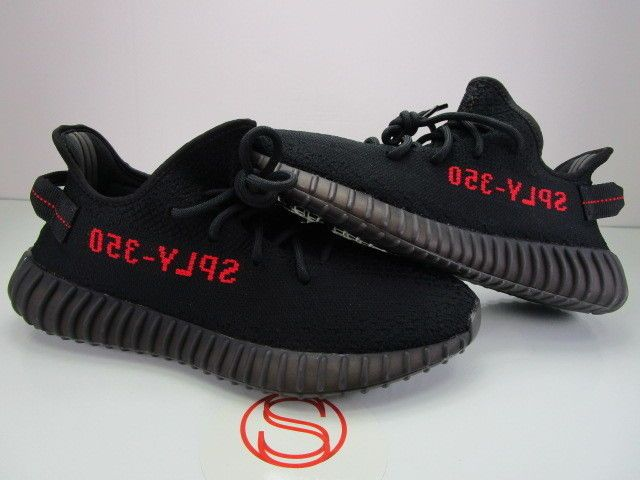 21fc7f2f39039 Details about Adidas Yeezy Boost 350 V2 BLACK RED BRED 9 in 2018 ...
