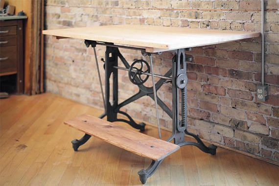 Hey I Found This Really Awesome Etsy Listing At Https Www Etsy Com Listing 552959770 Vintage Drafting Vintage Drafting Table Drafting Table Architect Table