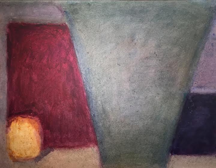Alexandre Hollan - Vie silencieuse . 2013 (acrylique papier, 70x90cm)