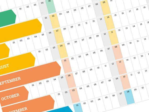 2019 Yearly Wall Planner Printable Large Wall Planner Etsy