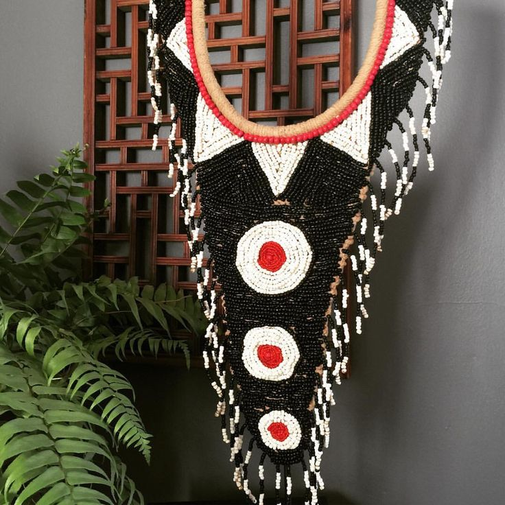 Intricately beaded Tribal Neckace by Global Emporium.