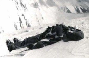 Dead body on Mount Everest