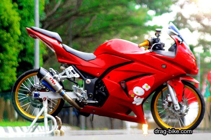 Foto Motor Ninja 4 Tak Modifikasi Ban Kecil (Dengan gambar ...