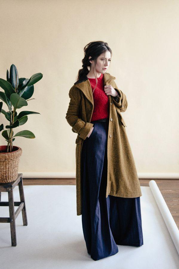 Wool coat by Saif2Clo. Season Spring'17. Шерстяное пальто от бренда Saif2Clo. Сезон Весна'17