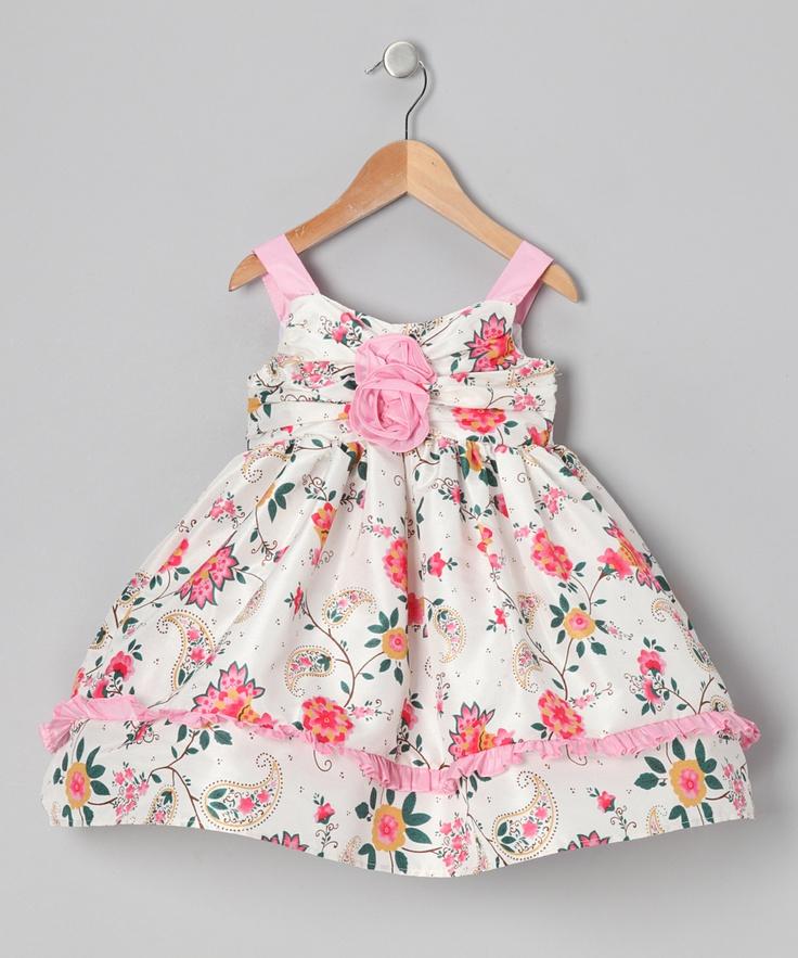 $26.99 Cream & Pink Floral Paisley Dress - Infant & Toddler