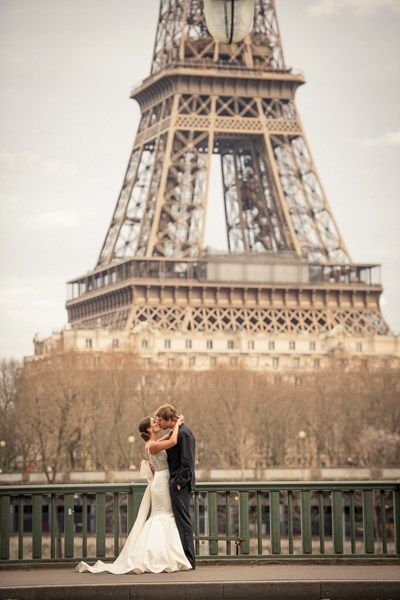 Destination wedding in Paris #wedding #Paris #Eiffel Tower