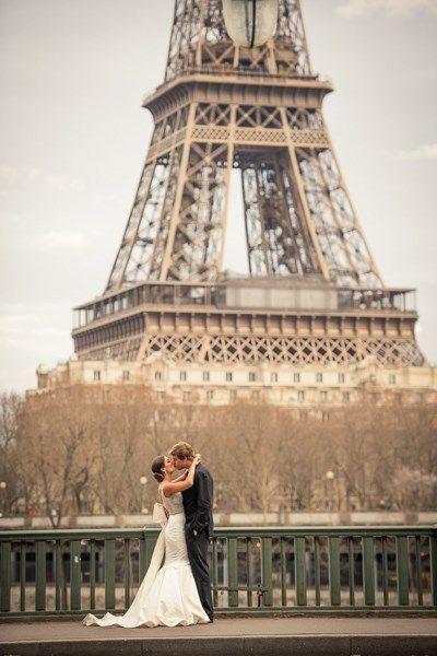 Destination wedding in Paris #wedding #Paris #Eiffel Tower