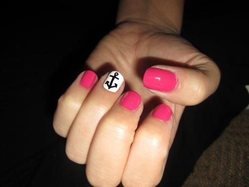Pink Sailor Nails!
