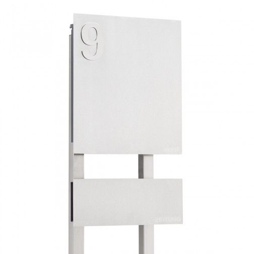 die besten 25 edelstahl briefkasten mit zeitungsfach. Black Bedroom Furniture Sets. Home Design Ideas