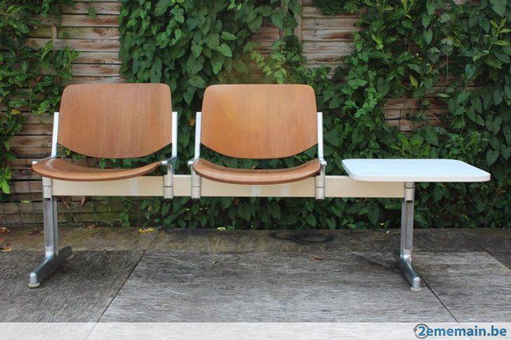 vintage chaise poutre avec assise bois salle d 39 attente. Black Bedroom Furniture Sets. Home Design Ideas