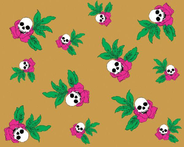Brennan & Burch limited edition skull rose textured wallpaper