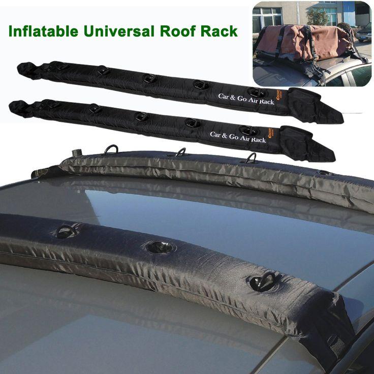 Надувной универсальный крыше стойки мягкие багажник путешествия гастроли для автомобиля каяк 2 шт.