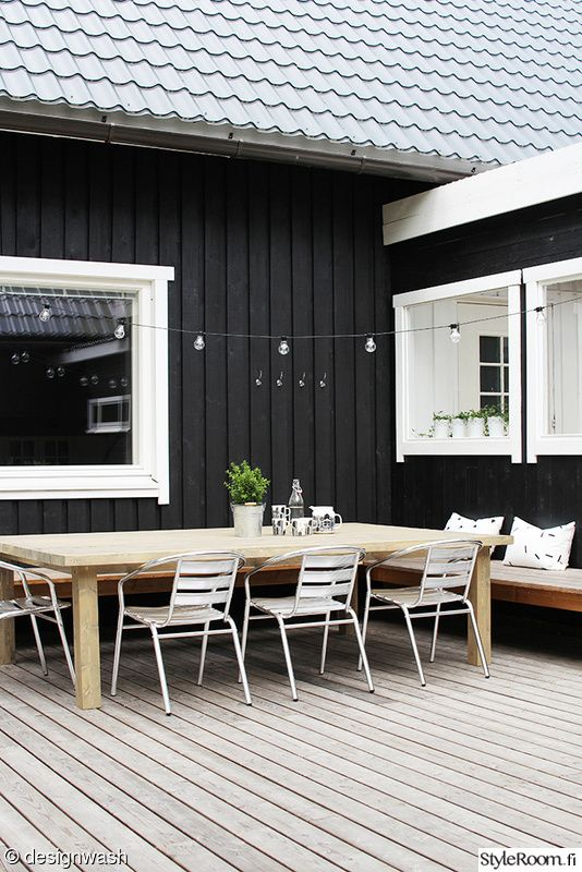 Terassi ennen ja j lkeen sisustuskuvia j senelt designwash styleroom black house exterior Outside paint for wood