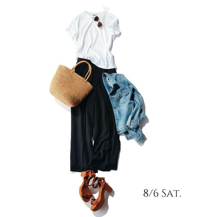 真っ白Tシャツがあれば、清潔感溢れる楽ちんコーデの出来上がりMarisol ONLINE|女っぷり上々!40代をもっとキレイに。