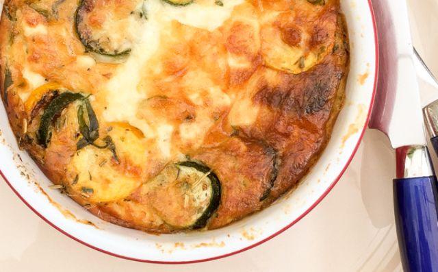 Clafoutis de jambon et courgettes Weight Watchers, recette d'un bon petit plat très facile à faire, idéal à servir en entrée ou comme plat principal.