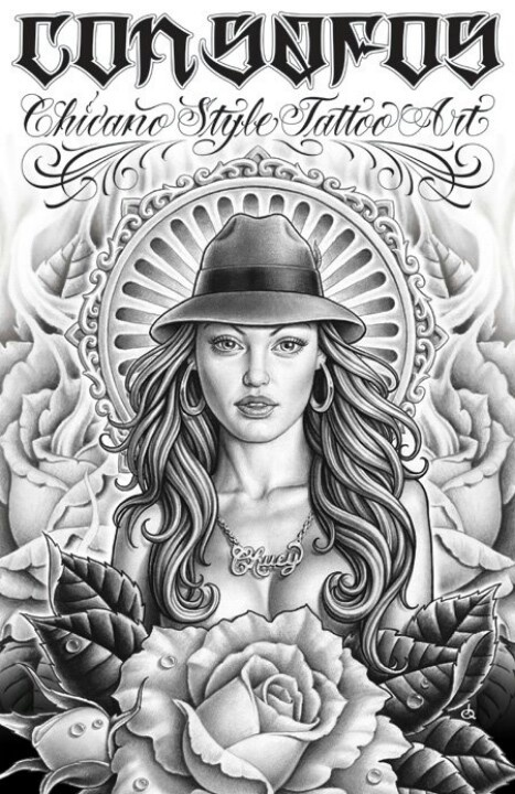 Chicano Art Coloring Pages Chicano Style coloring pages Pinterest
