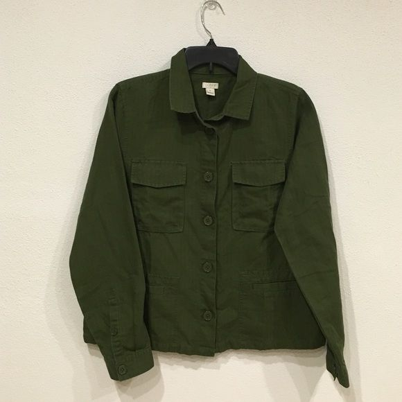J. Crew factory utility jacket New without tags. Bust: 20. Length: 23.5. 50% linen 50% cotton. / no trades. No PayPal J. Crew Jackets & Coats Utility Jackets