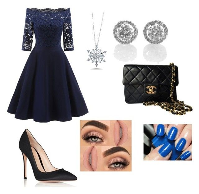 """untitled #2"" by kehichabelle on Polyvore featuring Gianvito Rossi, Chanel and BERRICLE"