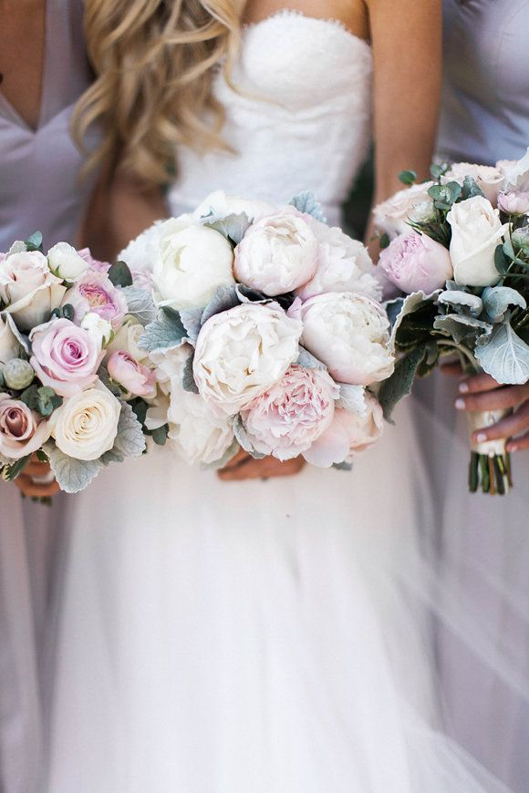 <3 PEONIES (Florist: Diane Carvotta) - Timeless & romantic wedding at San Ysidro Ranch by Tamara Maruhnich (Planner), Katie Shuler (Photography) + Wade Carr (Photography assistant) - via Magnolia Rouge