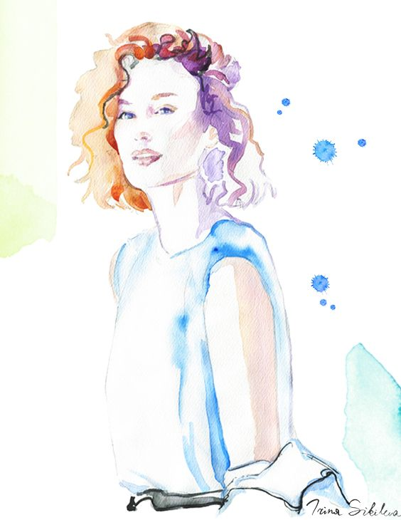 Zanita Whittington, illustration by Irina Sibileva #ZanitaWhittington #fashionillustration #IrinaSibileva  #Irinaillustration