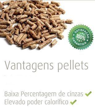 Pellets em sacos 15Kg (72 sacos)Pellet produzido a partir de serrim 100% natural, proveniente de serrações em torno da fábrica (madeira predominante de pinho).Pellets naturais de madeira, produzidos a partir de biomassa de qualidade superior.Propriedades
