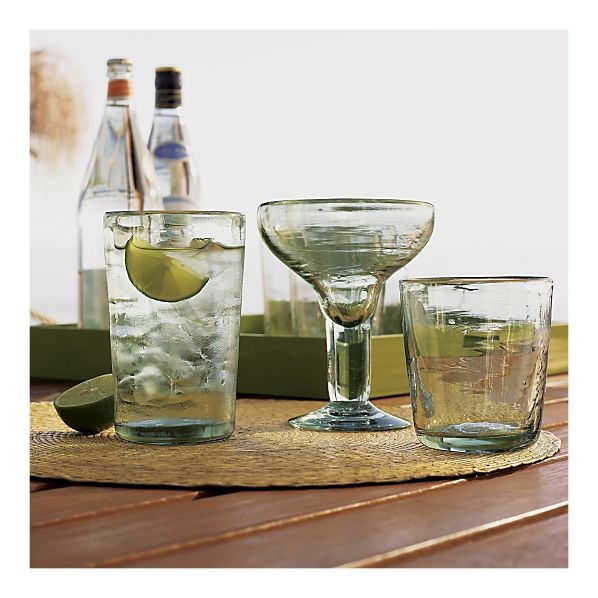 Love the recycled glassware