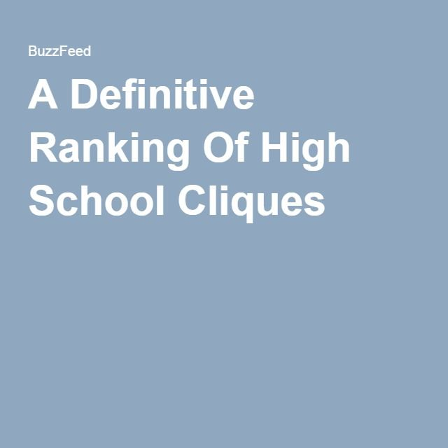 A Definitive Ranking Of High School Cliques