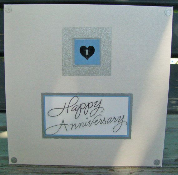 Key to my Heart  handmade card anniversary by RogueKissedCraft