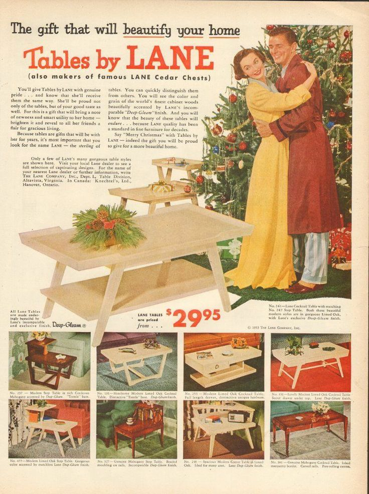 Vintage 1966 Ad 1027 For Tables By Lane Ad Only | EBay
