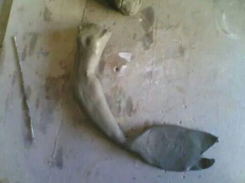 Sirena in fase di lavorazione