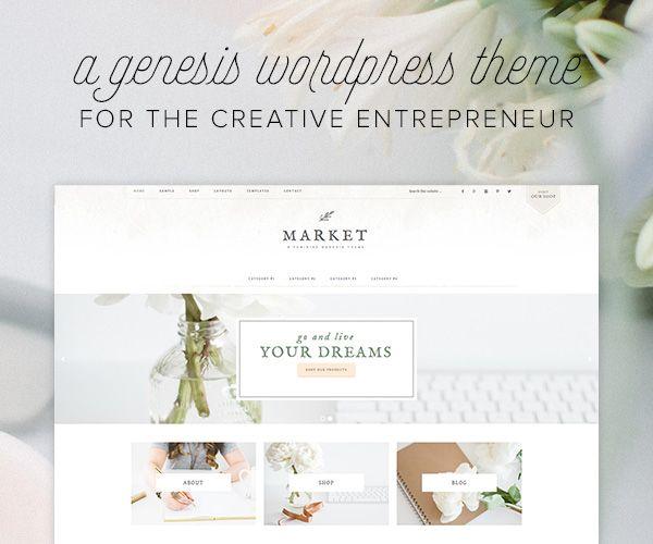 WordPress theme for creative entrepreneurs