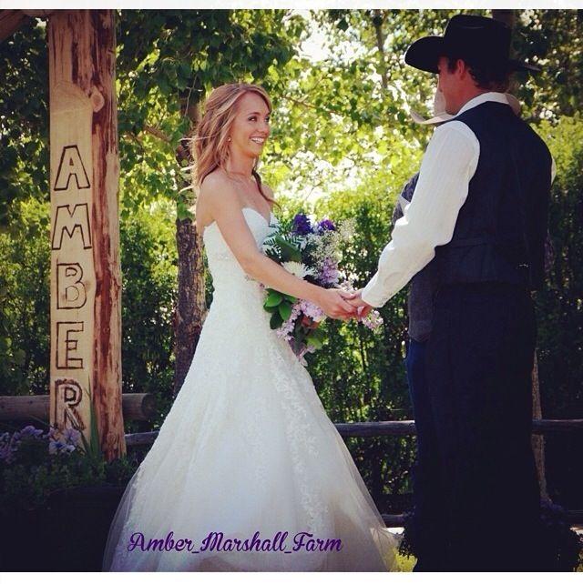 Real wedding of Amber Marshall. Heartland