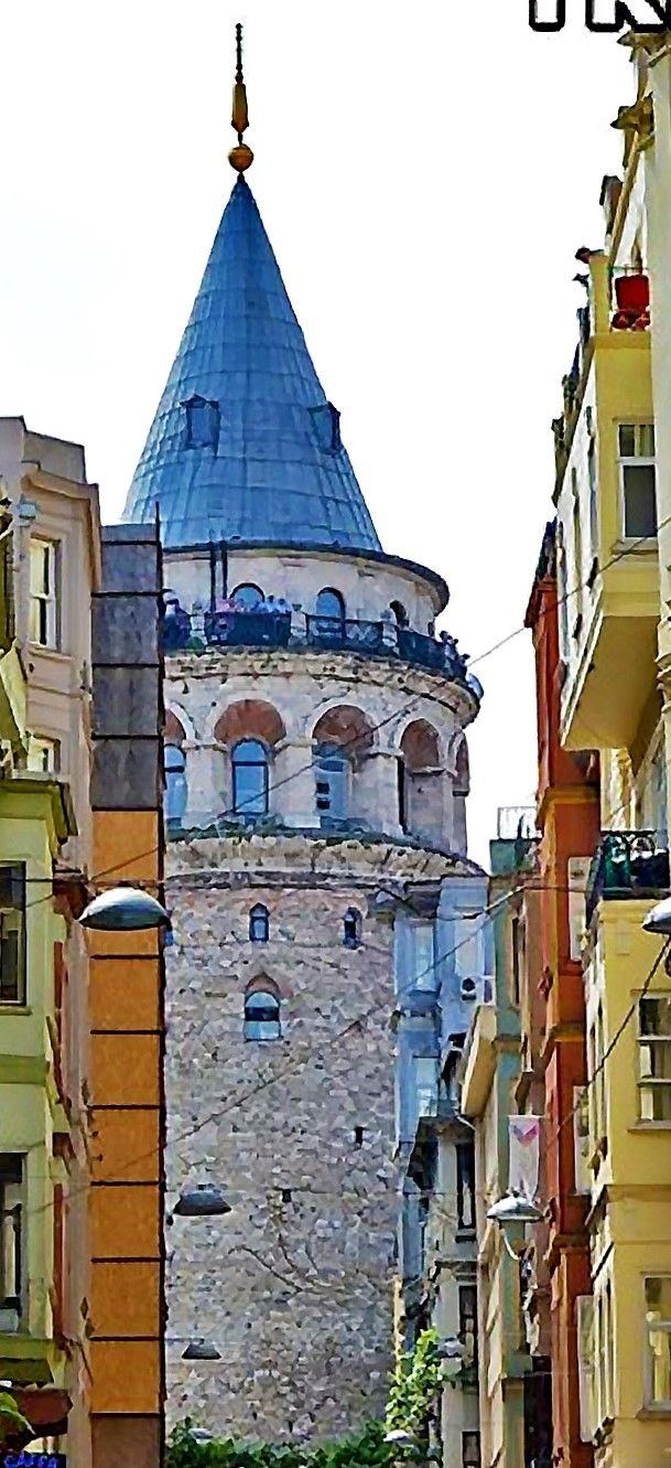 Galata Tower From the Bosphorous in Istanbul, Turkey