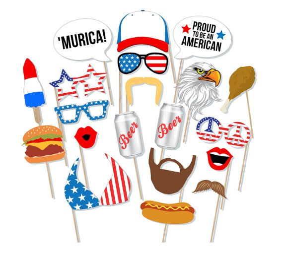 ★ This listing is for a DIGITAL FILE only. ★ ★ NO PHYSICAL ITEMS WILL BE SHIPPED. ★  Fantastic and unique party idea for your Murica Bash! This listing is for a printable photo prop set, an excellent option for the do-it-yourselfers and last-minute party planners!  Prints perfectly onto any 8.5 x 11 cardstock, 20 fun props included (print as many copies as you like to make as many props as you need!)  ◄ INCLUDES ► 8-page PDF file that contains 20 props! • (1) Blank Trucker Hat | 7 (add your…