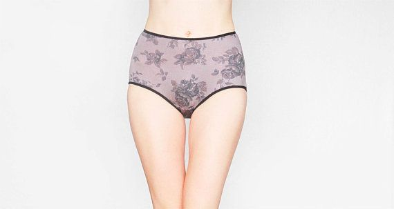 These roses floral patterned high waisted panties looks great. These High Waisted Panties is very comfortable. It embodies natural beauty with a slight retro touch. Panties is made from a soft viscose fabric. The small gusset lining is made of 100% cotton.  Egretta Garzetta underwear