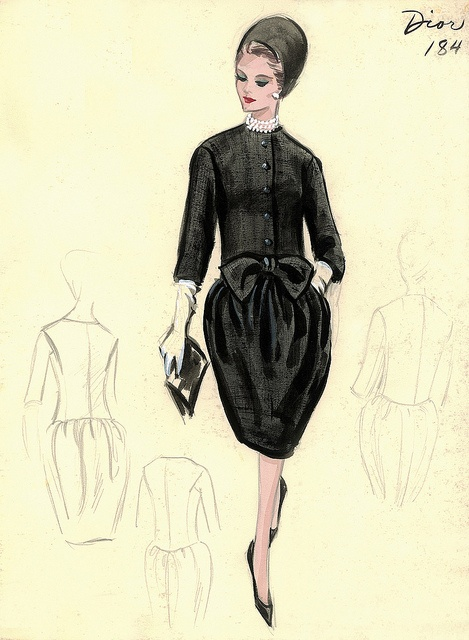 Dior Dress by FIT Library Department of Special Collections, via Flickr