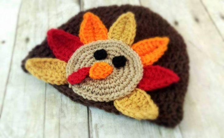Crochet Baby Hat Pattern Super Bulky Yarn : Crochet Baby Turkey Hat Crochet baby/photo props Pinterest