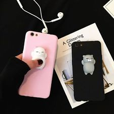 Squishy 3D Soft Silicone Cat Kneading Phone Case Cover For iPhone 6 6s 7 Plus