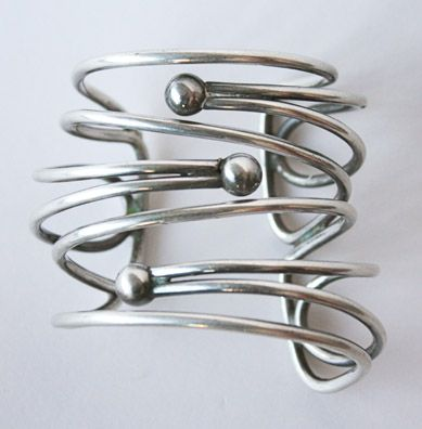 Cuff Bracelet | Art Smith.  Silver.  ca. 1950s