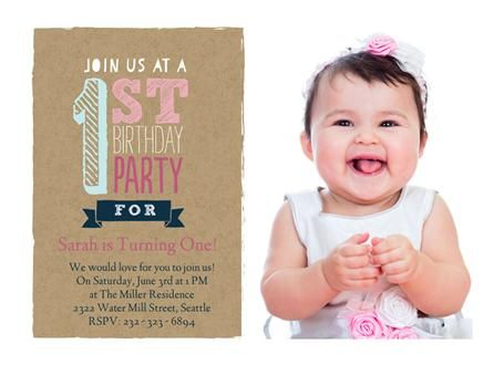 26 best images about Birthday Invitations – Baby Birthday Cards Design