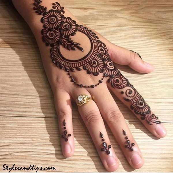 Beguiling Front Hand Arabic Mehndi Designs Front Hand Arabic