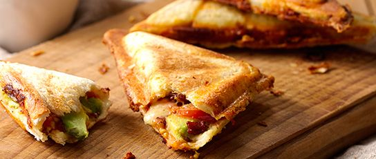 Bacon, Cheese, Avocado  Tomato Jaffle