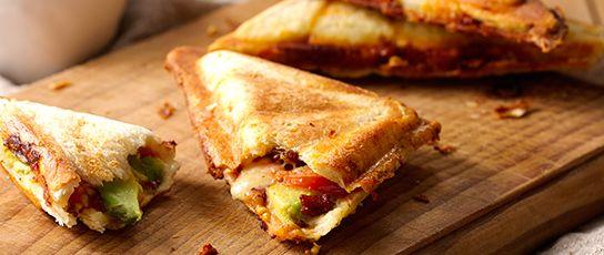 Bacon, Cheese, Avocado & Tomato Jaffle