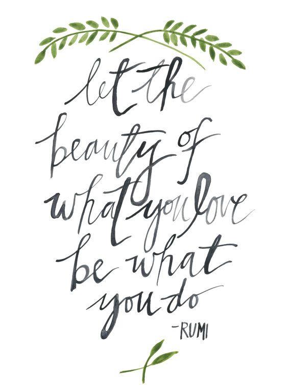 Rumi Quote Watercolor Art Print 9x12