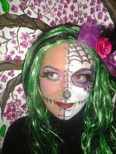 Half doll... half candy skull
