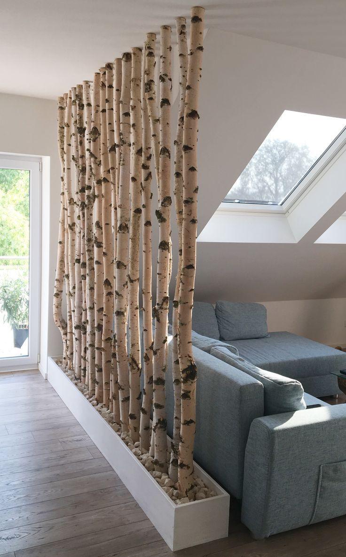 Bouleaux dans la maison #birch #partition #diy # handmade #roomdecoration – –
