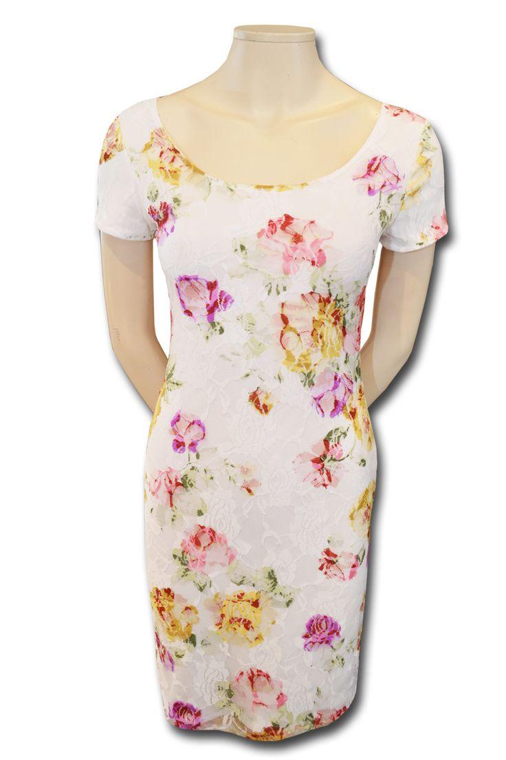 KARTO sommerkjole hvid blonde - Køb kjoler online hos KARTO også i store størrelser
